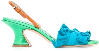 Lanvin Pleated Low Heel Sandals