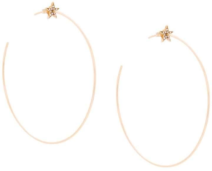 Diane Kordas star hoop earrings