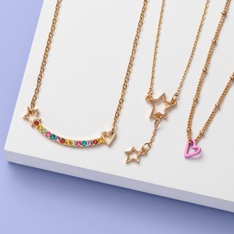Girls' Layered with Stones and Stars Necklace Set - More Than MagicTM