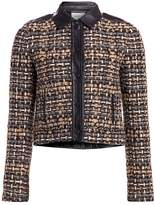 Akris Punto Leather-Trimmed Tweed Short Jacket