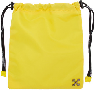 Off-White Yellow Nylon Satchel Pouch