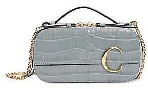 Chloé Women's C Croc-Embossed Leather Crossbody Bag