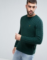 Farah Norfolk Cable Knit Sweater