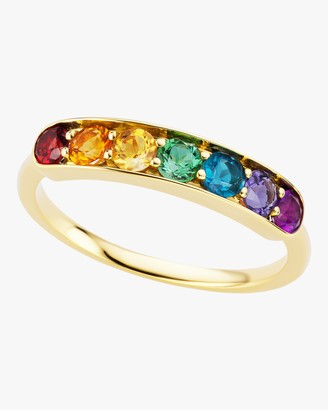 Jane Taylor Rainbow Gemstone Half Eternity Band