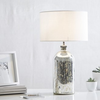 The White Company Mercury Small Bottle Table Lamp, Silver, One Size