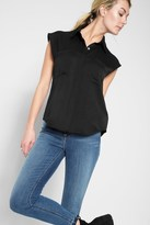 7 For All Mankind Angular Pocket Shirt In Black