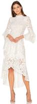 Rebecca Vallance The Society Frill Midi Dress