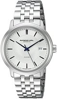 Raymond Weil Men's 'Maestro' Swiss Stainless Steel Automatic Watch, Color:Silver-Toned (Model: 2237-ST-65001)