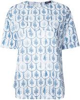 Jil Sander Navy floral print T-shirt - women - Cotton - 42