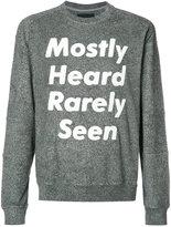 Mostly Heard Rarely Seen logo print sweatshirt - men - Cotton/Polyester - XXL