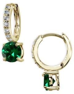 Giani Bernini Colored Cubic Zirconia Huggie Hoop Earrings in 18k Gold Plated Sterling Silver
