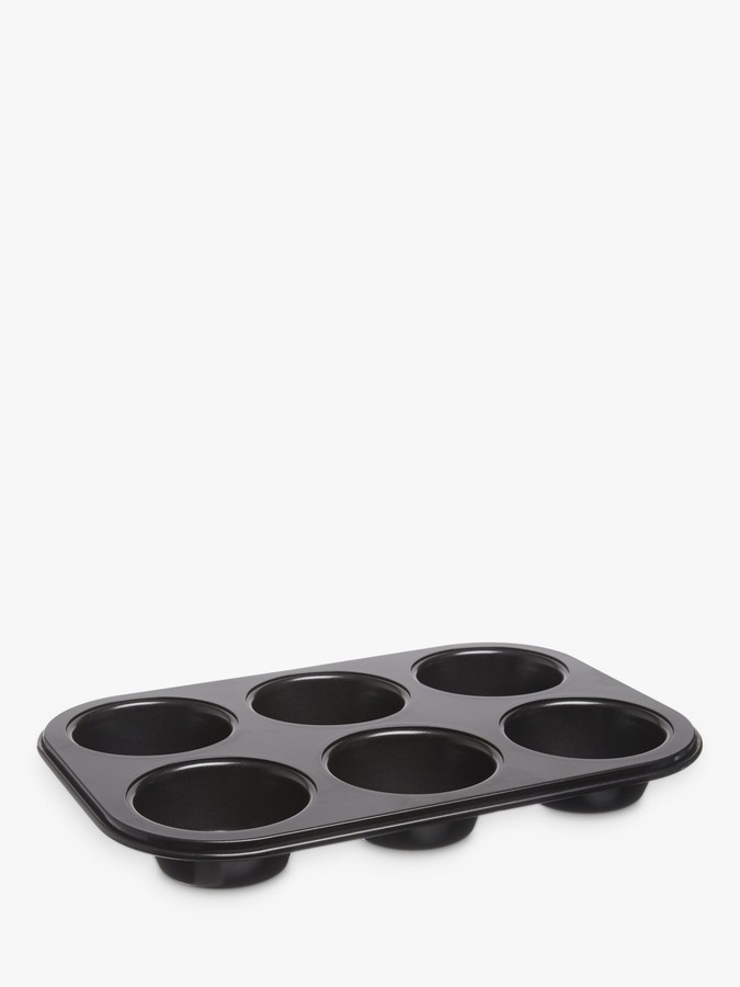 John Lewis & Partners Professional Non-Stick Muffin Tray, 6 Cup
