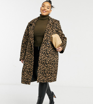 Wednesday's Girl Curve tailored coat in leopard print