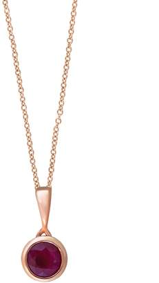 Effy Amore Ruby and 14K Rose Gold Pendant Necklace