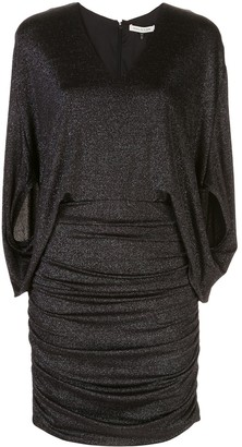 Halston metallic knit dress