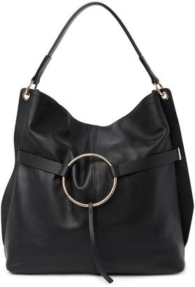 Melrose and Market Pebbled Leather Tassel Ring Hobo Bag