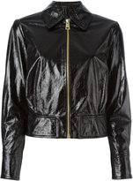 Lanvin cracked leather jacket