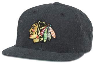 American Needle NHL Chicago Blackhawks Fleck Patterned Flat Brim Baseball Cap