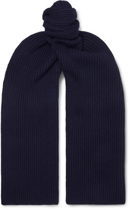 A.P.C. Ribbed Melange Merino Wool And Cashmere-Blend Scarf