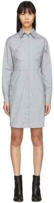 MM6 MAISON MARGIELA Grey Poplin Shirt Dress