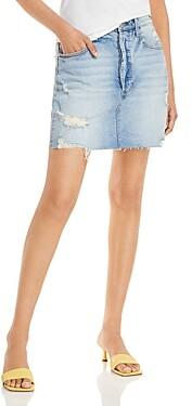 Thumbnail for your product : Aqua Destructed Cut Off Denim Mini Skirt - 100% Exclusive