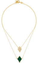 Karen Kane Diamante Double Strand Necklace