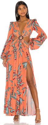 PatBO Long Sleeve Cutout Dress