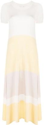 Max & Moi Panelled Short-Sleeved Dress