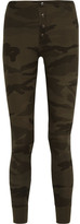 Splendid Camouflage-print Stretch Supima Cotton And Modal-blend Leggings - Army green