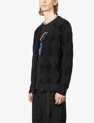 The Soloist Patterned cotton-blend knitted cardigan