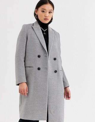 Gianni Feraud tailored coat with orange reverse collar-Gray
