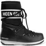 Moon Boot Shell-piqué And Faux Leather Ski Boots - Black