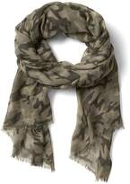 Banana Republic Camo Sheer Rectangular Scarf