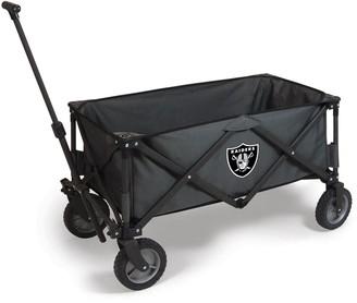 Picnic Time Oakland Raiders Adventure Folding Utility Wagon