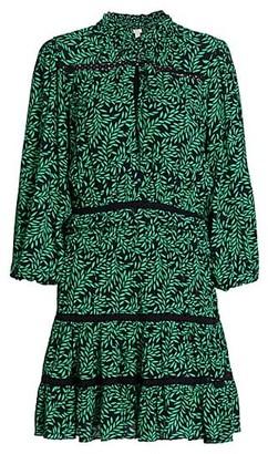 Joie Salama Printed Puff-Sleeve Dress