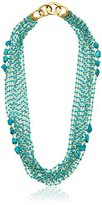 "Diane von Furstenberg Atlantis Semiprecious Turquoise Stone Multi-Row Layered Necklace, 29"" + 3"" Extender"