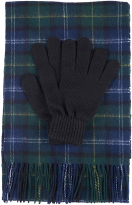 Barbour Tartan Wool Scarf & Gloves Set