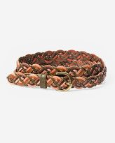 Eddie Bauer Women's Braided Leather Belt