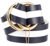 Michael Kors Bicolor Striped Belt w/ Tags