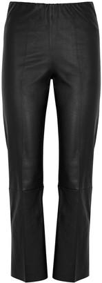 By Malene Birger Florentina black slim-leg leather trousers