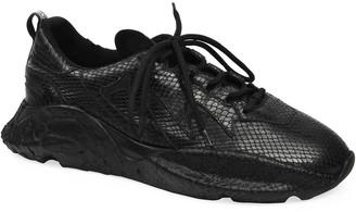 Roberto Cavalli Men's Viper Chunky Snake-Effect Sneakers