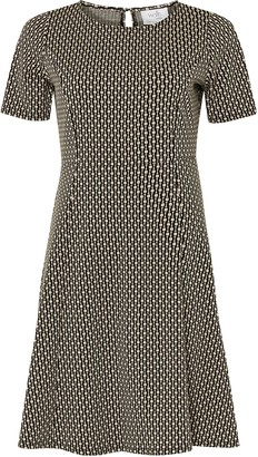 Wallis PETITE Black Jacquard Fit And Flare Dress