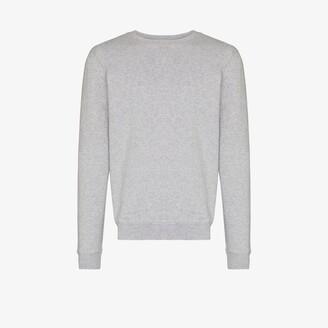 Sunspel Grey Crew Neck Sweater