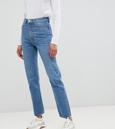 Asos Tall DESIGN Tall Recycled Florence authentic straight leg jeans in mid vintage blue