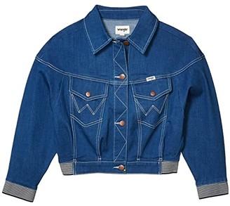 Wrangler Modern Jean Jacket Crop (Low Dip Rinse) Women's Coat