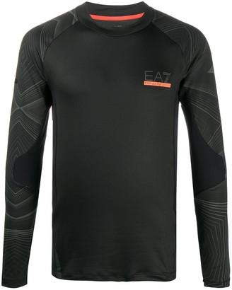 EA7 Emporio Armani abstract-print T-shirt