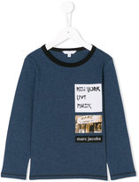 Little Marc Jacobs patch detail long sleeved T-shirt