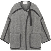 Chloé Iconic Two-tone Mohair-blend Coat - Light gray