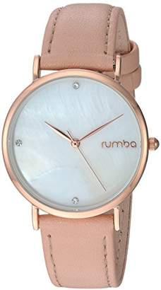 RumbaTime Women's 'Lafayette' Genuine Rose/Pink Leather Casual Watch (Model: 27747)