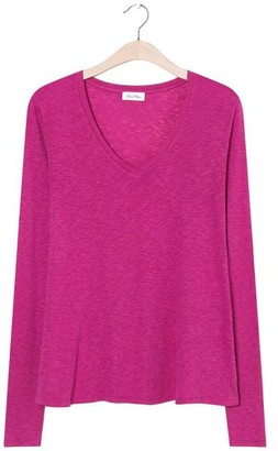 American Vintage Kobibay Long Sleeved Pink T Shirt - X Small